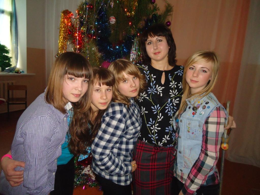Трефилова Н.В. с девушками 8а класса