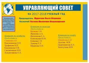 Управляющий совет 2017-2018 учебный год